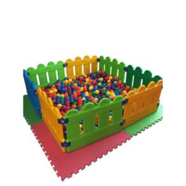 Ball Pit with Mats and Fencing
