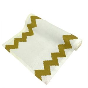 Gold and White Table Runner