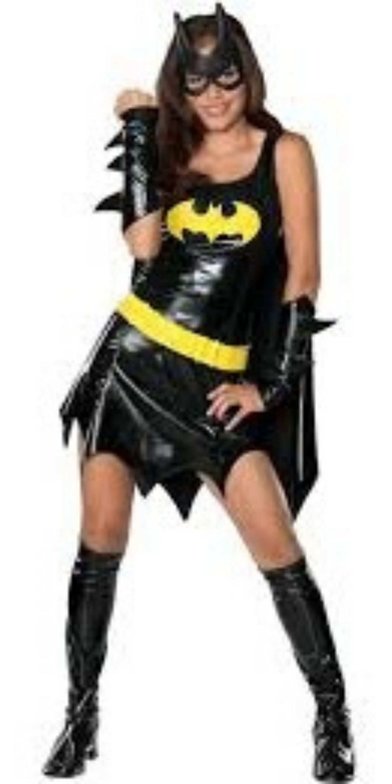 Woman in Batgirl Party Costume