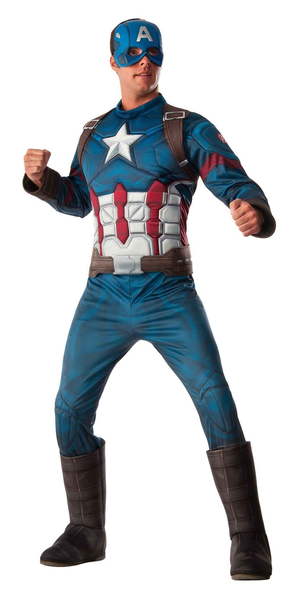Man in Captain America Party Costume