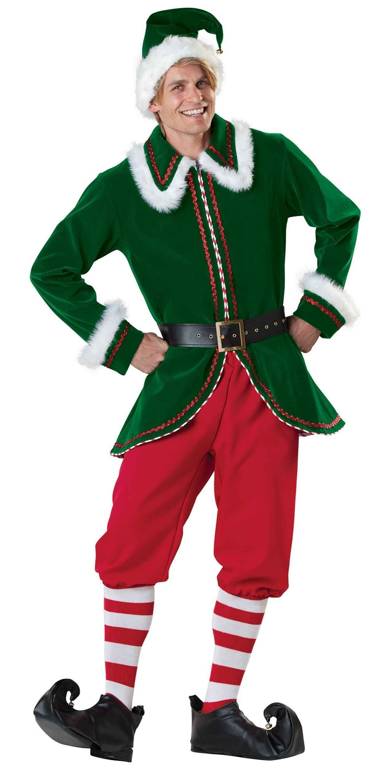 Man in Christmas Elf Party Costume