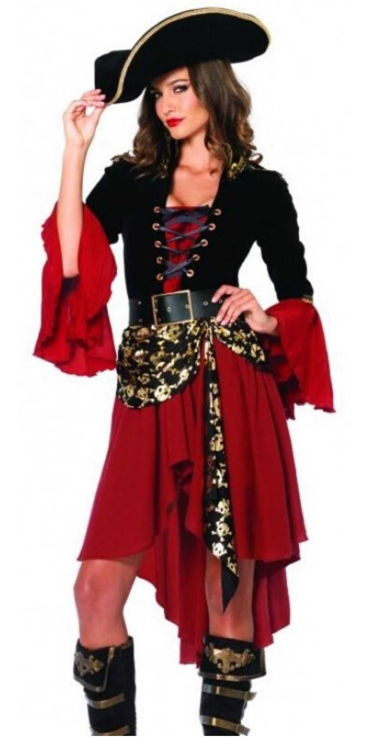 Woman in Pirate Party Costume