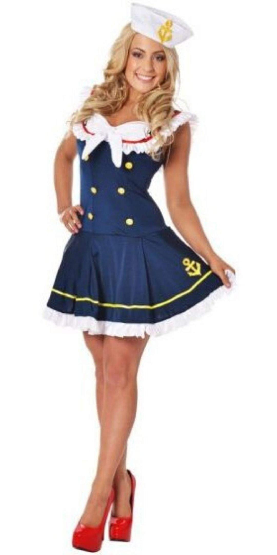 Woman in Sailor Party Costume