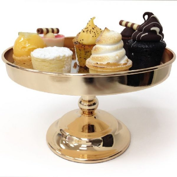 20cm Gold Cake Stand with Assorted Desserts