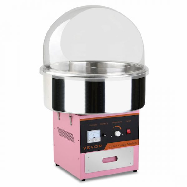 Pink Fairy floss Machine hire Melbourne with bubble guard