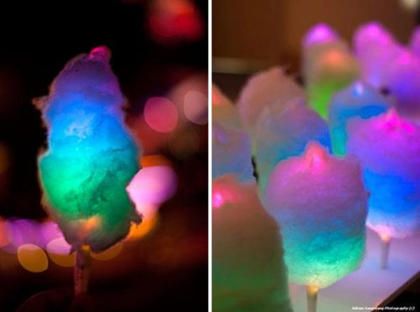 Light up stick from a Fairy floss machine hire Melbourne
