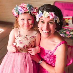 Children's party entertainer melbourne in a pink fairy dress