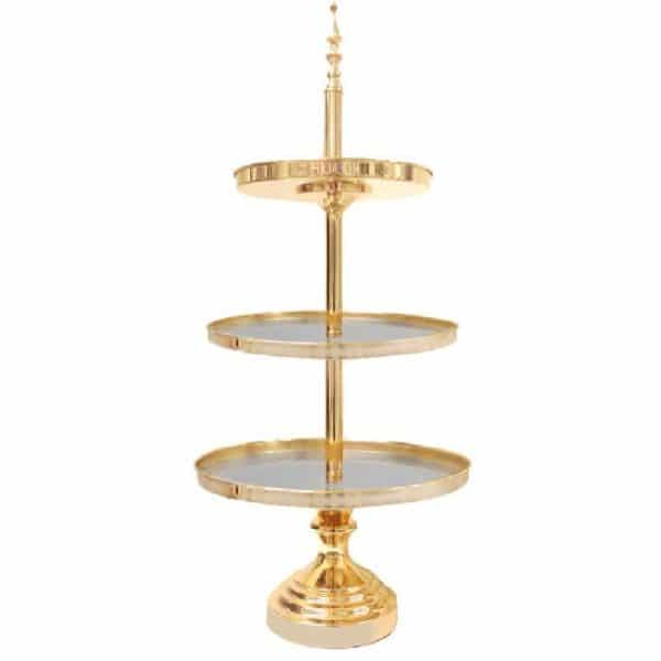 3 Tier Gold Cake Stand