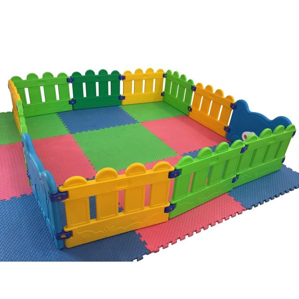 Play Pen with Mats and Fencing