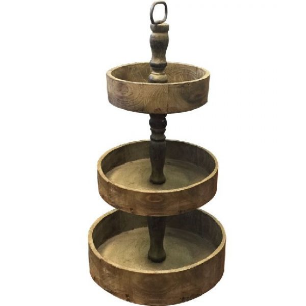 Rustic Wood 3 Tier Cake Stand