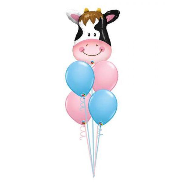 4 Balloon Arrangement with Foil Topper