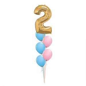 5 Balloon Arrangement with Foil