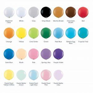 90cm Balloon Colour Chart