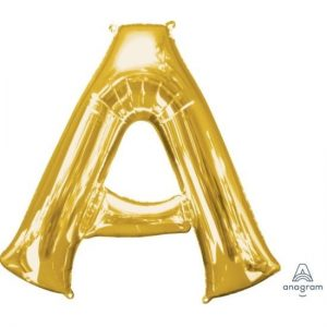 Gold Foil Letter Balloon