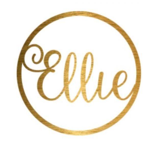 Gold Lasercut Sign Saying Ellie