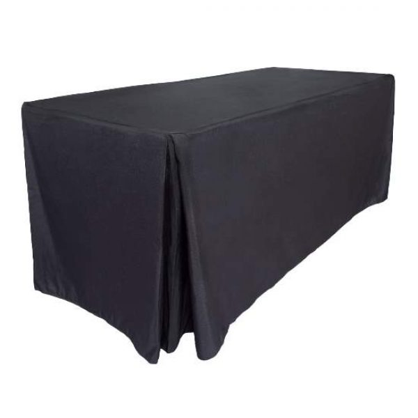 Black Fitted Tablecloth