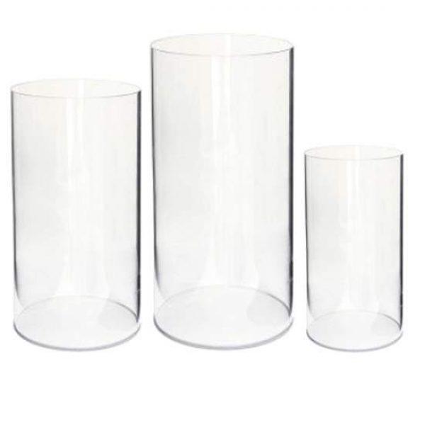 Clear Plinth Trio