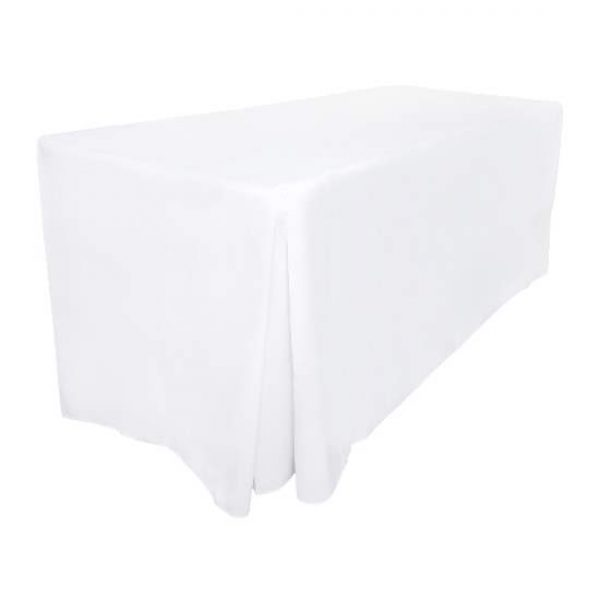 White Fitted Tablecloth