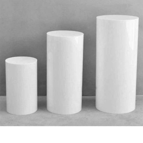 White Plinth Trio