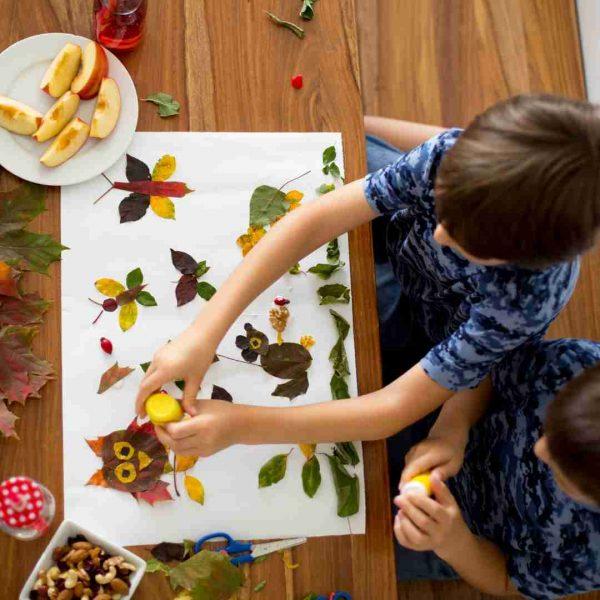 Kids doing art and craft