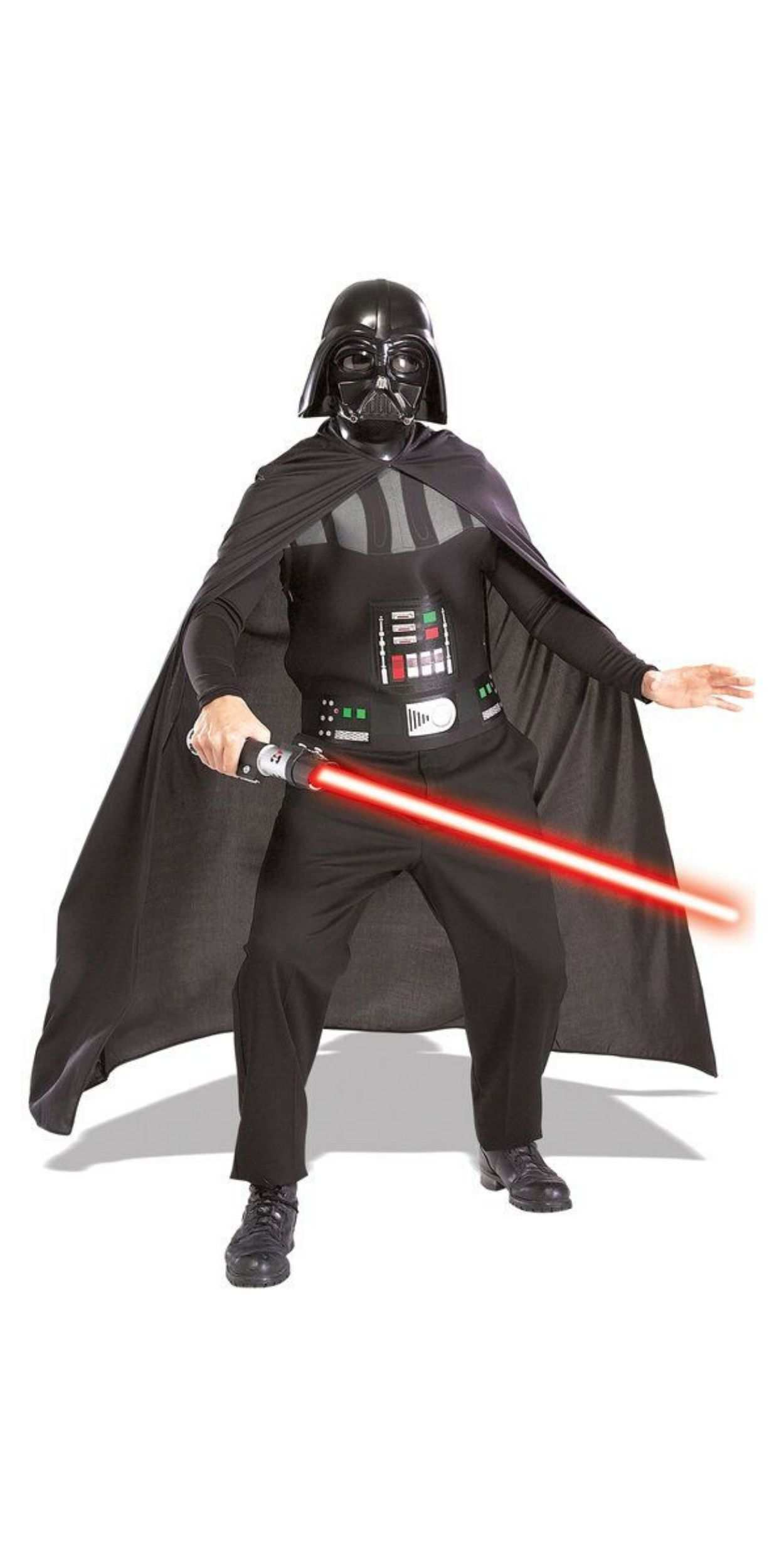 Man in Darth Vader Party Costume