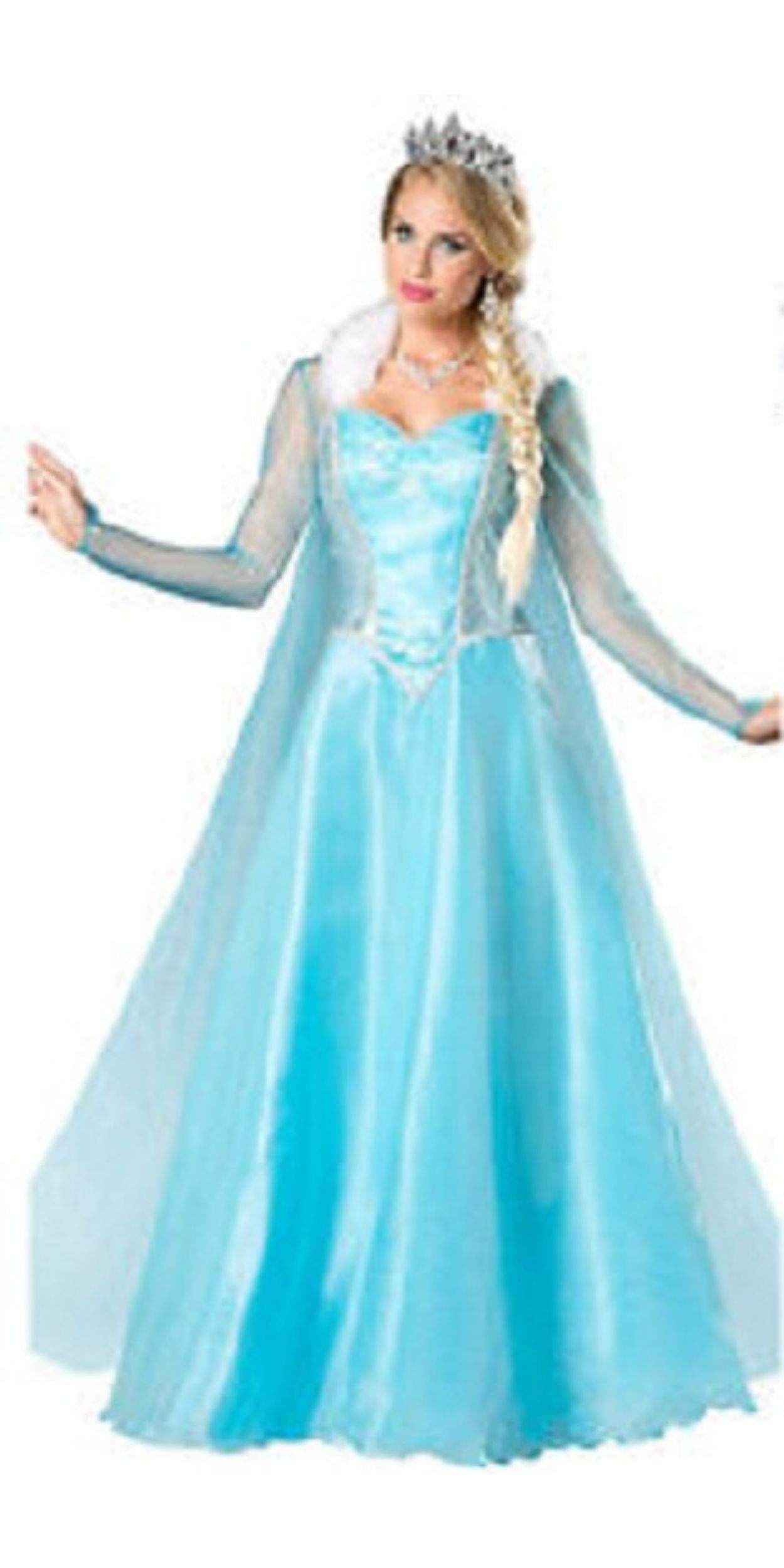 Woman in Elsa Party Costume