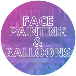 Face painting brushes for a kids party