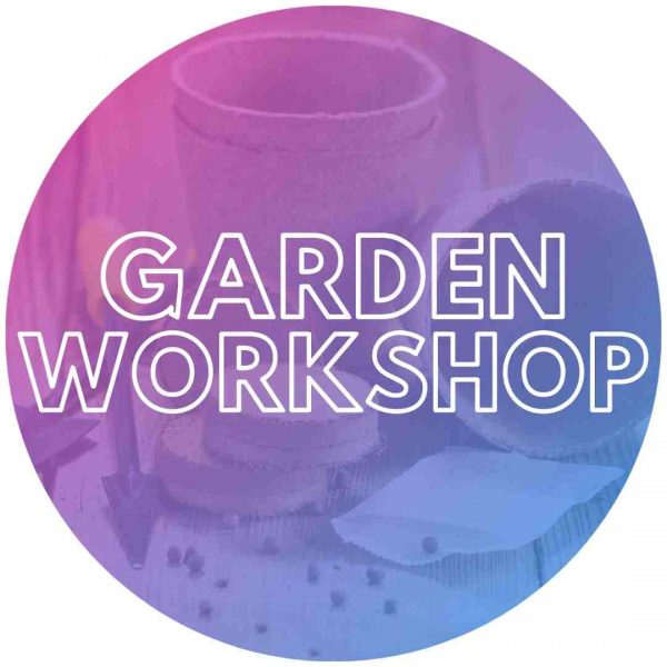 Gardening pot and seeds for kids events