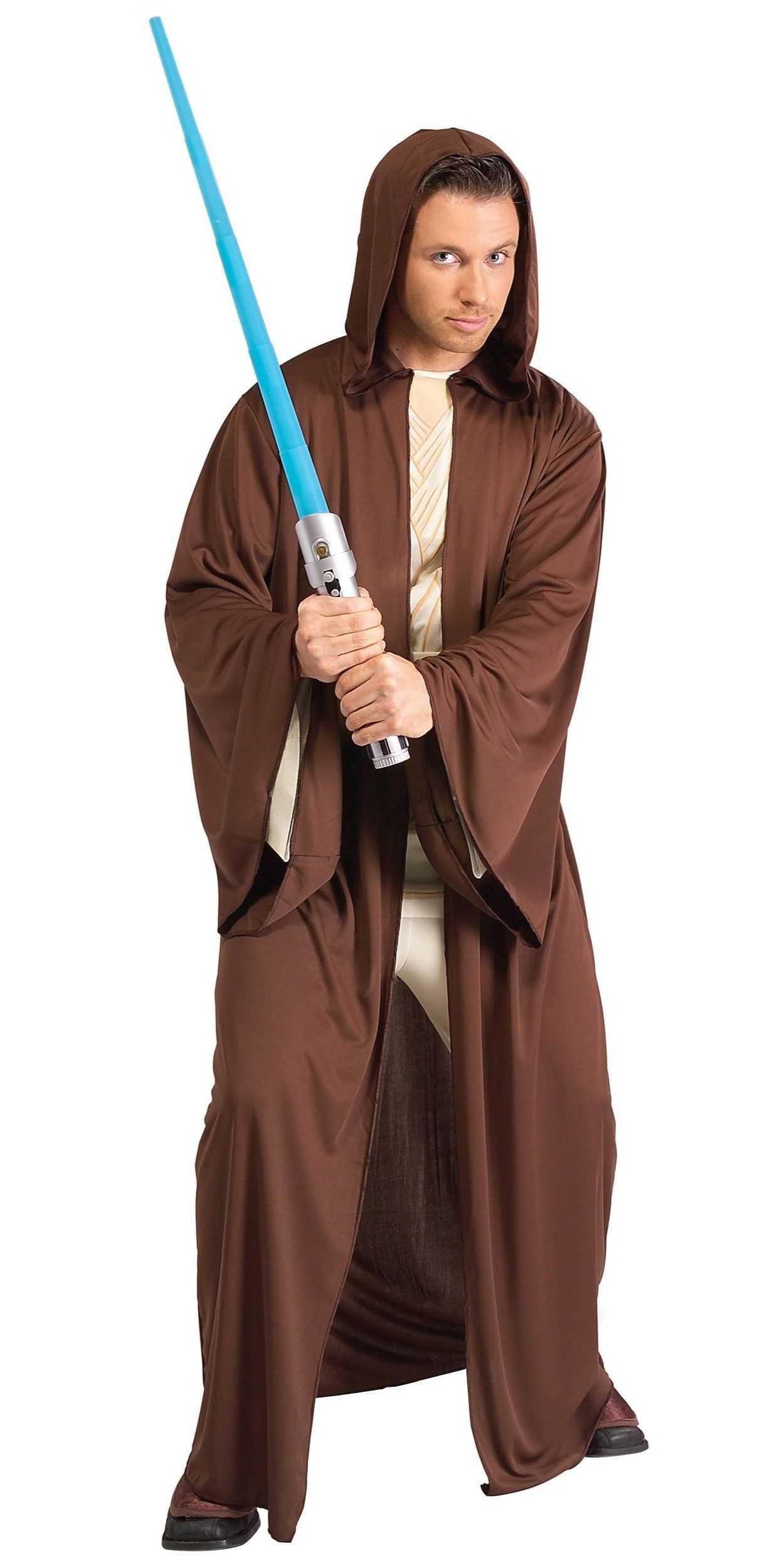 Man in Jedi Knight Party Costume