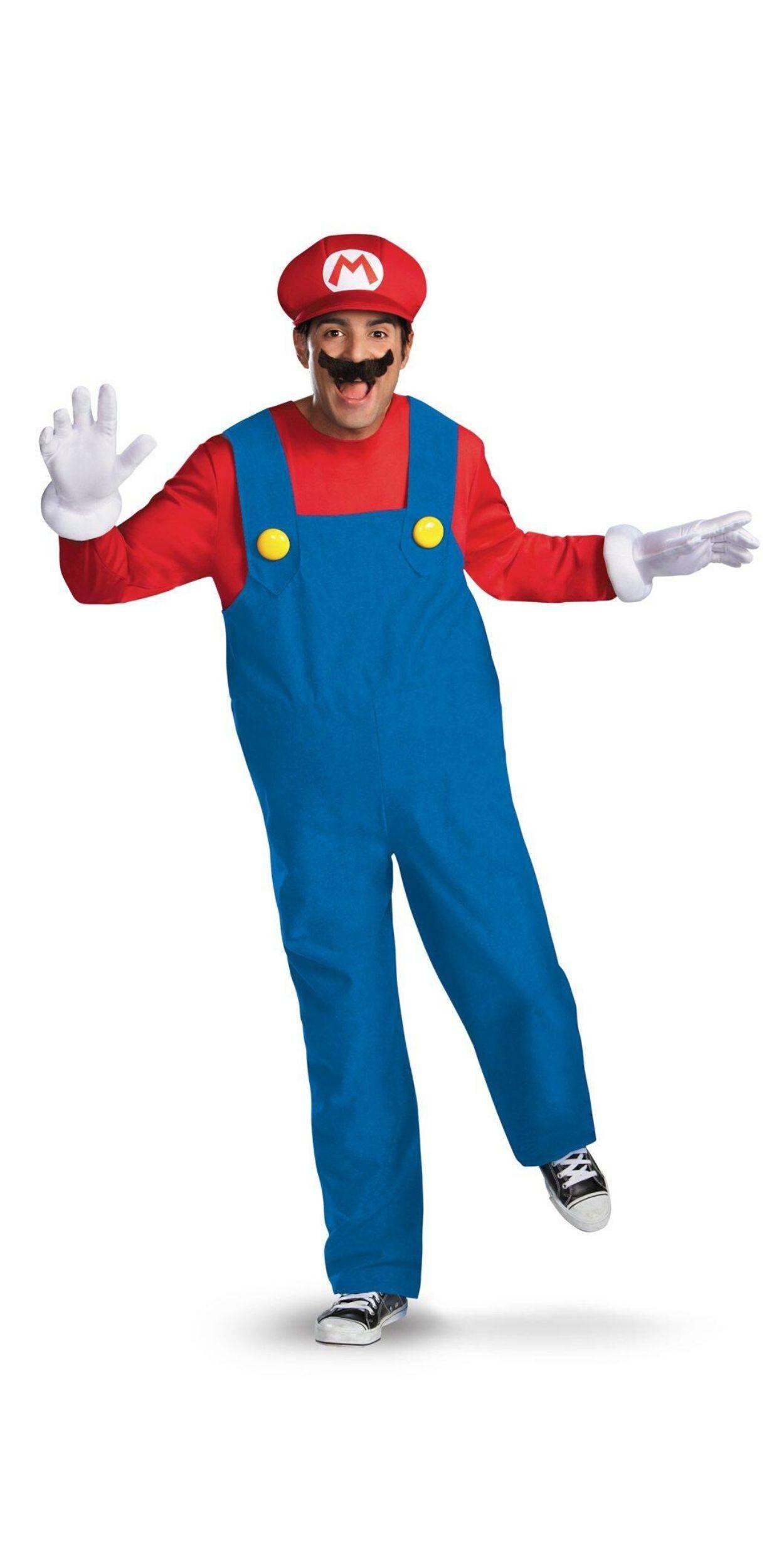 Man in Mario Party Costume