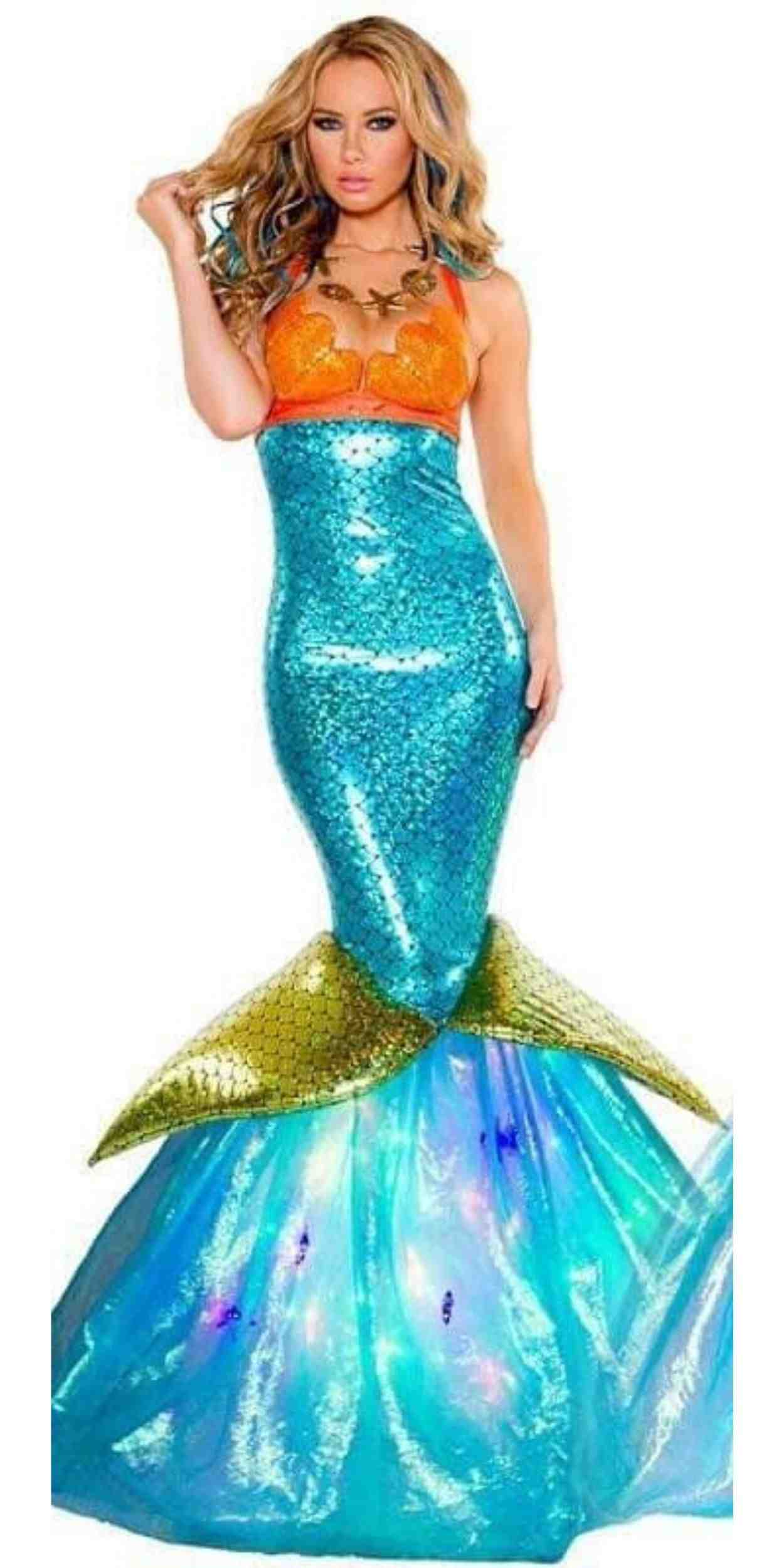 Woman in Mermaid Party Costume
