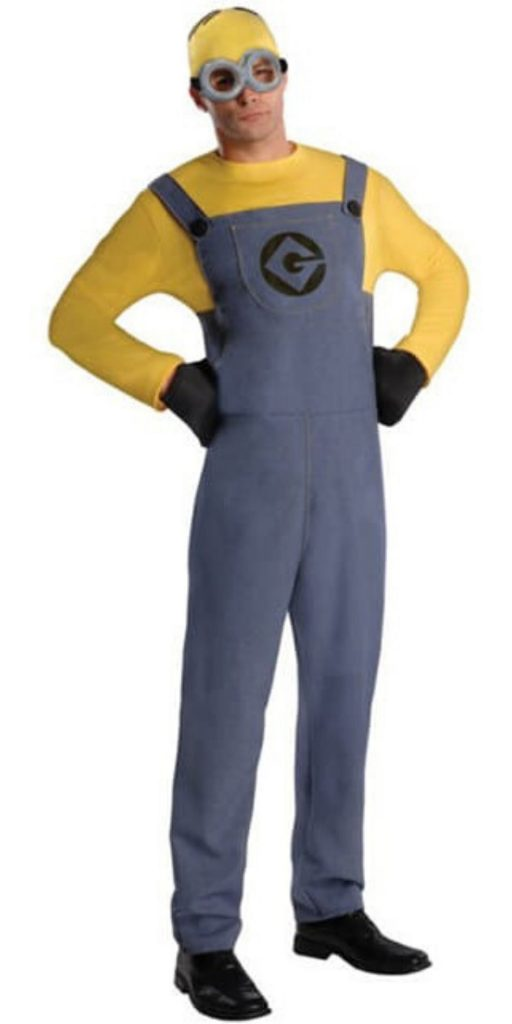 Man in Minion Party Costume