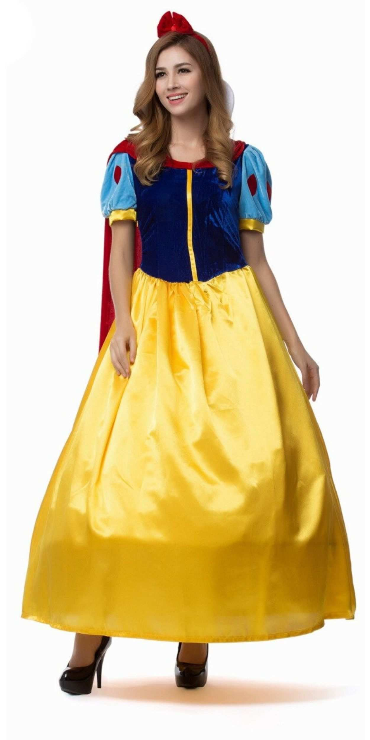 Woman in Snow White Party Costume