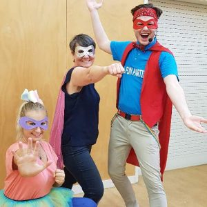 Children's Entertainers in Superhero Party Costumes