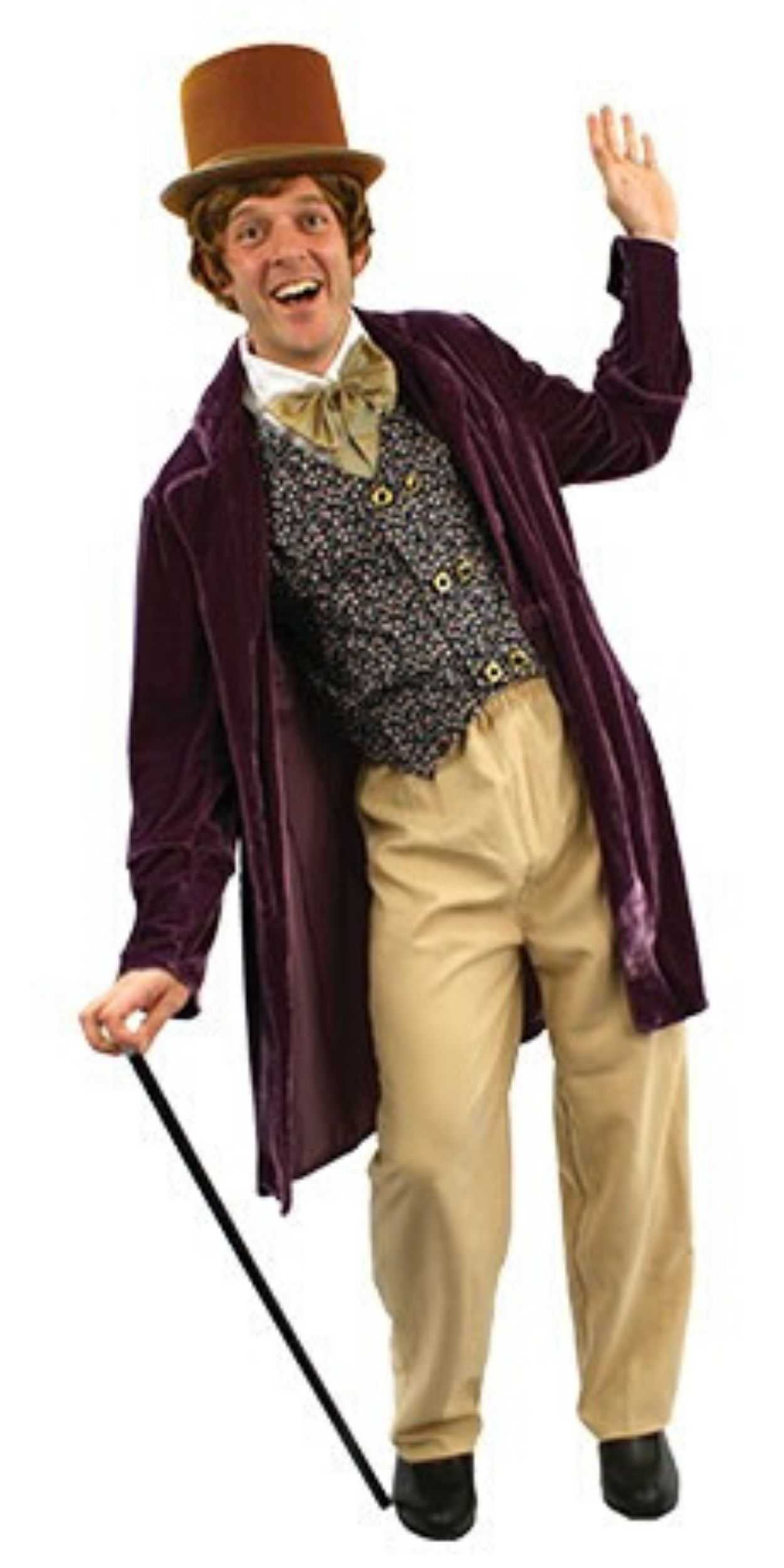 Man in Willy Wonka Party Costume