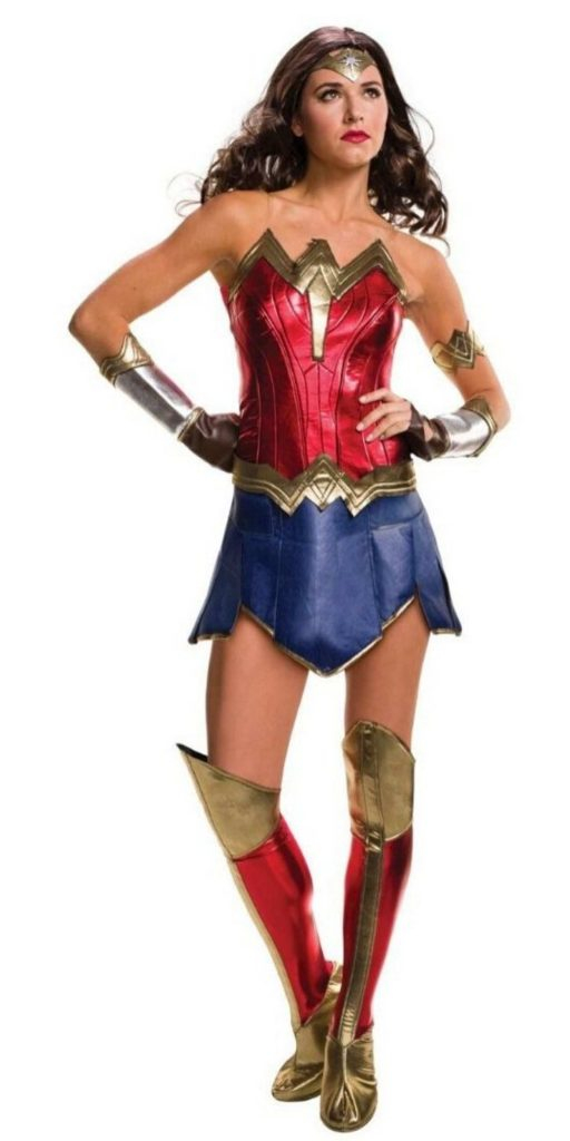 Woman in Wonder Woman Party Costume
