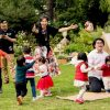 children dancing at party With lots of bubbles