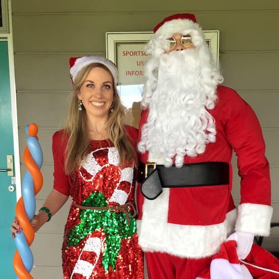Santa with Christmas Elf