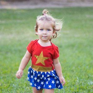 Little Girl in Wonder Woman Costume