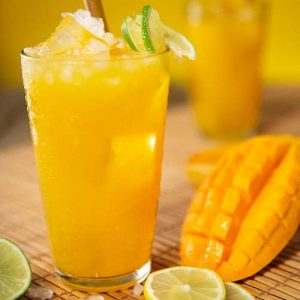 Mango Juice in Glass for Healthy Party Food