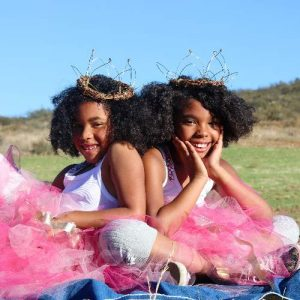 Girls in Princess Tutu Costumes Outside for Kids Party Theme