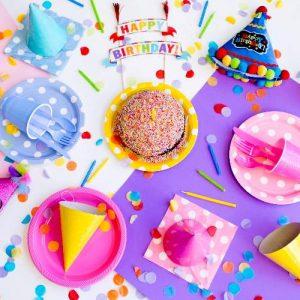 Rainbow Kids Party Theme Decorations
