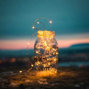 Fairy Lights in Mason Jar for Low-Waste Kids Party