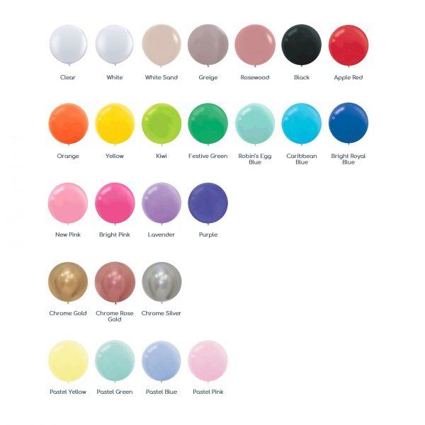 60cm Balloon Colour Chart
