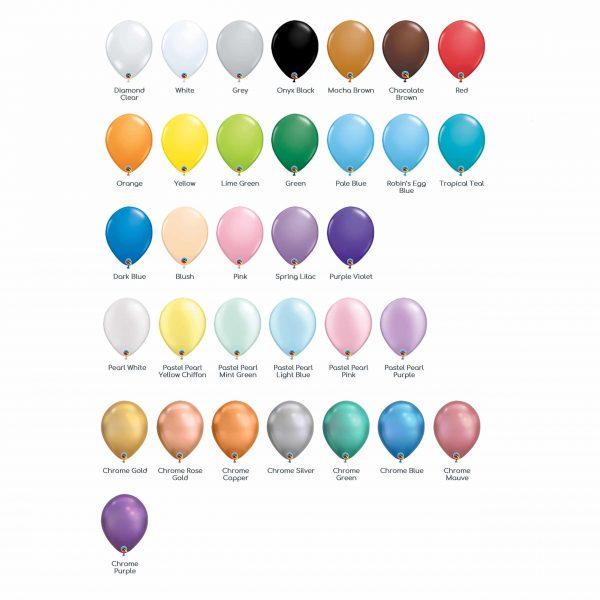 Balloon Colour Chart