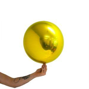 Loon Ball Metallic Gold Balloon
