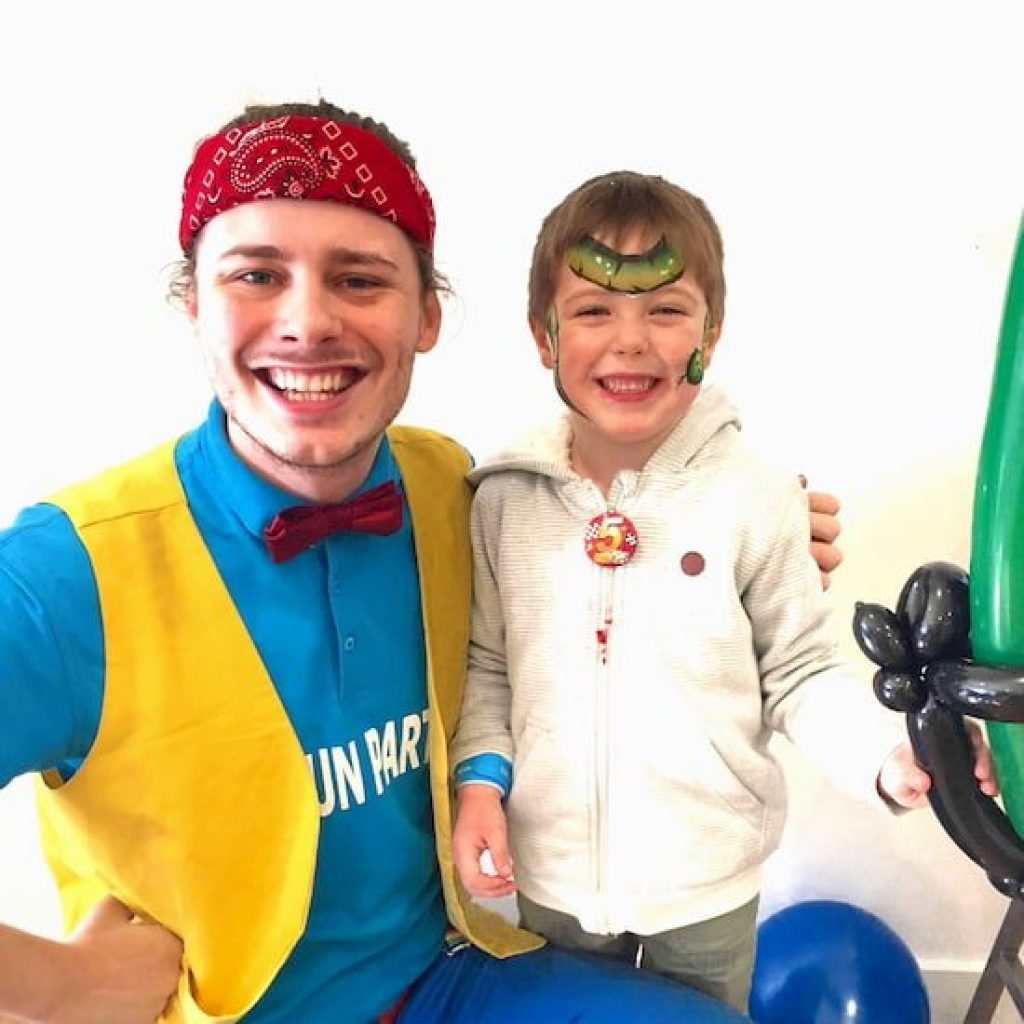 Kids Party Entertainer in Melbourne with Birthday Child
