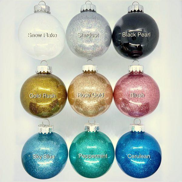 Glitter Bauble Colour Chart