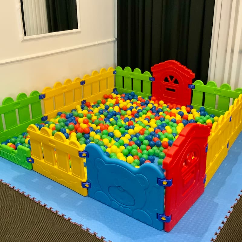 Ball Pit with Multicoloured Ball and Fencing for Kids Party Hire
