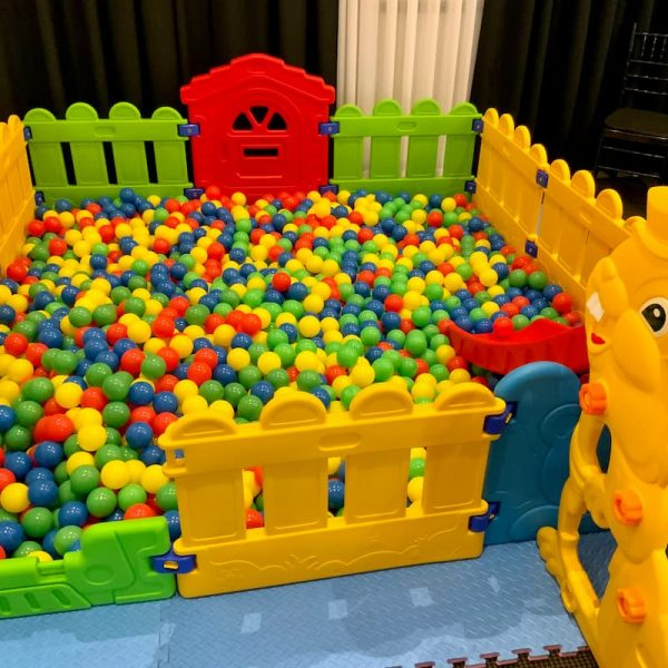 Ball Pit with Multicoloured Balls for Kids Party Hire